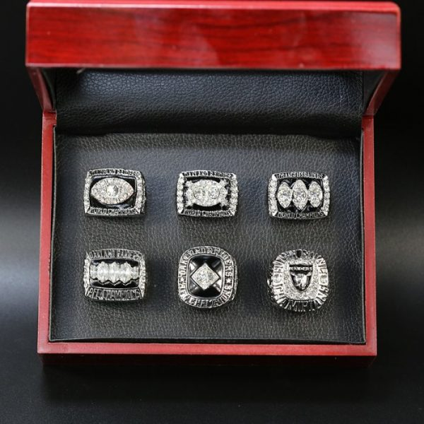 6 Set Championship Rings NFL Los Angeles Raiders 1967-2002