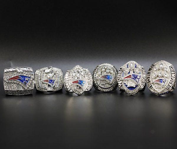 6 Set Championship Rings NFL New England Patriots 2001-2018