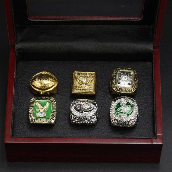 6 Set Championship Rings NFL Philadelphia Eagles 1948-2017