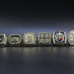 6 Set Championship Rings NFL Pittsburgh Steelers 1974-2008 Gold