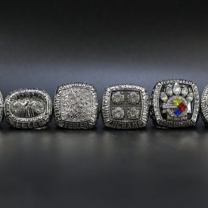 6 Set Championship Rings NFL Pittsburgh Steelers 1974-2008 Silver
