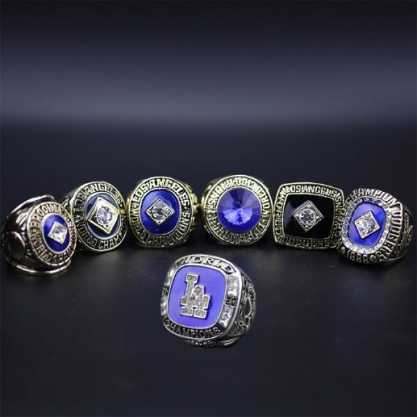 7 Set Championship Rings MLB Los Angeles Dodgers 1955-2020 Corey Seager