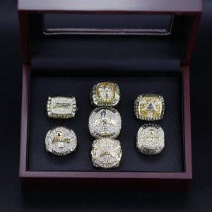 7 Set Championship Rings NBA Los Angeles Lakers 2000-2020 Kobe Retirement