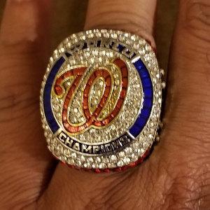 MLB World Series Championship Ring Washington Nationals 2019 Stephen Strasburg photo review