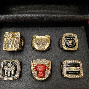 6 Set Championship Rings NBA Chicago Bulls 1991-1998 photo review