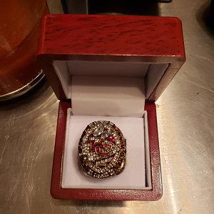 NFL Championship Ring Kansas City Chiefs 2019 Patrick Mahomes photo review