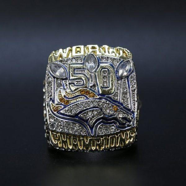 NFL Championship Ring Denver Broncos 2015 Peyton Manning