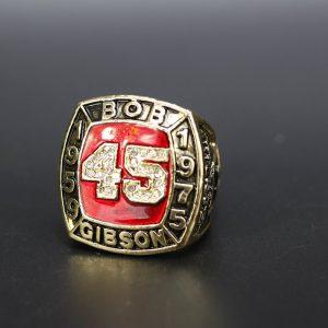 MLB Championship Ring Hall Of Fame Bob Gibson 1959-1975