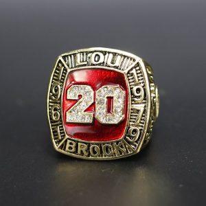 MLB Championship Ring Hall Of Fame Lou Brock 1961-1979