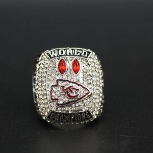 NFL Championship Ring Kansas City Chiefs Patrick Mahommes 2020 Silver